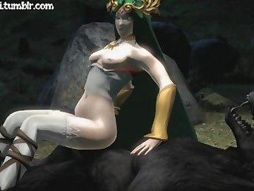 Legend of Zelda Hentai, cartoon, 60fps, anime, point, view, sfm, 3d, palutena, zelda, pov