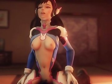 Overwatch Porn, anime, dva, overwatch, compilation, cartoon, parody