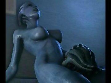 Mass Effect Hentai, mom, mother, butt, milf, samara, mass, effect, asari, futa, music, sex, ass, fuck, cartoon
