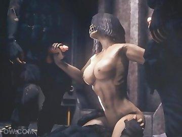 Mortal Kombat Hentai, mortal, kombat, mileena, hentai, cartoon