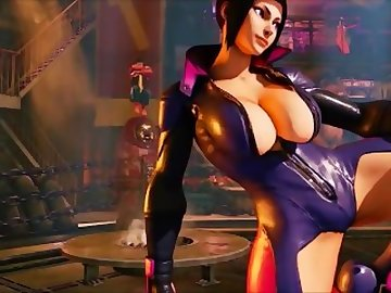Street Fighter Hentai, femdom, dominatrix, juri, street, fighter, butt, bdsm, uncensored, hentai, ass, sex, cartoon, street fighter