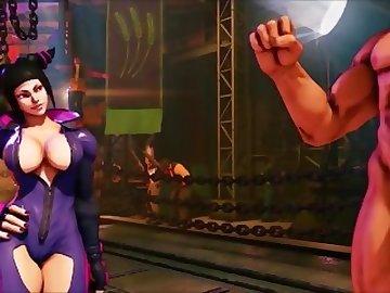 Street Fighter Hentai, femdom, dominatrix, juri, street, fighter, butt, bdsm, uncensored, hentai, ass, sex, cartoon, street fighter