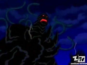 Teen Titans Hentai, anime, teenager, brunette, blowjob, teen, cartoon