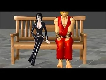 One Piece Hentai, trample, boot, licking, cartoon, foot, domination