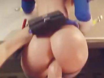 Overwatch Porn, mei, anal, pov, ass, dick, fuck, butt, cock, overwatch, mercy, tracer, cartoon, 60fps