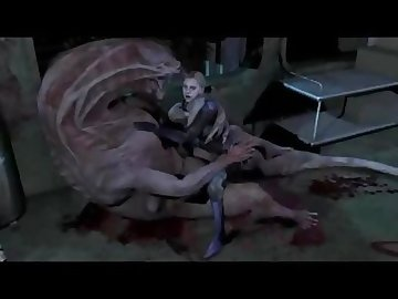 Resident Evil Porn, sex, monster, jill, valentine, resident, evil, cock, anal, cartoon