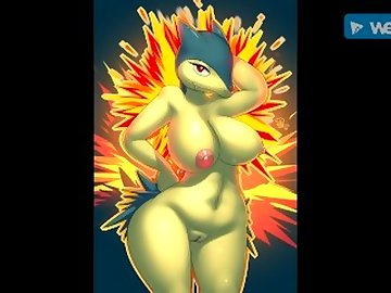 Pokemon Hentai, sexy, pokemon, hentai, typhlosion, ass, tits, fetish, cartoon