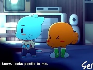 Amazing World of Gumball Hentai, cartoon, gumballs, mom, gumball, porn, pussy, licking