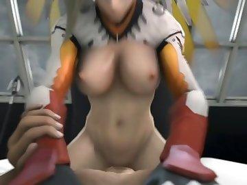 Overwatch Porn, tracer, mei, girl, point, view, anime, overwatch, tits, ass, mercy, porn, lesbian, pov, sex, cartoon