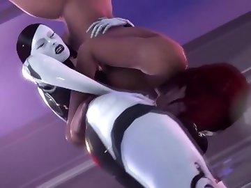 Mass Effect Hentai, futa, mass, effect, standing, 69, blowjob, shemale, cartoon, parody