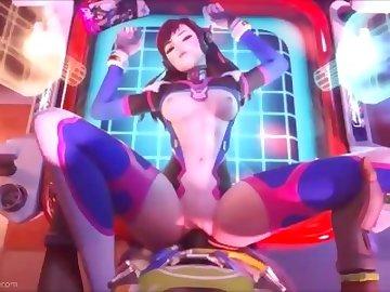 Overwatch Porn, handjob, anal, double, penetration, cartoon, ass, fuck, dp, butt, overwatch, mercy, dva, blowjob