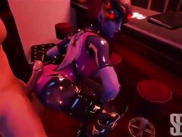 Overwatch Porn, point, view, butt, assjob, anime, ass, pov, overwatch, buttjob, widowmaker, cartoon