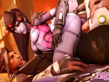 Overwatch Porn, anime, overwatch, tracer, mercy, mei, porn, futa, widow, pharah, hentai, blowjob, compilation, cartoon, 60fps