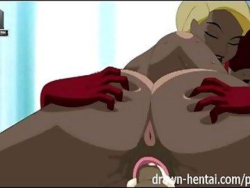 Justice League Porn, drawn, hentai, anime, cartoon, justice, league, parody, animation, creampie, blowjob, titfuck, black, canary, flash, blonde, fishnet, superhero, tits, uniforms