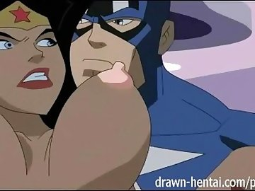 justice, drawn, hentai, anime, cartoon, justice, league, parody, animation, creampie, blowjob, titfuck, black, canary, flash, blonde, fishnet, superhero, tits, uniforms