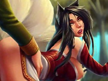 swf, felisyor, league of legends, ahri felisyor, furry, doggystyle, ahri, creampie