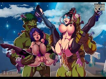 swf, creampie, hentai, big boobs, bayonetta, anal penetration, anal creampie, anal
