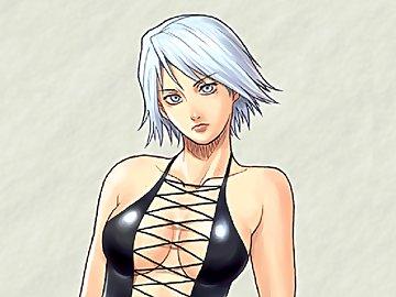 swf, dead or alive, hentai, azasuke wind, undress, christie, bikini
