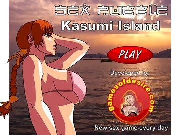 swf, puzzle, parody, henta, big black cock, big boobs, gangbang, kasumi, cumshot
