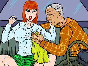swf, humor, rape, sex, rain, sexy red-haired girl, sexy girl, animation