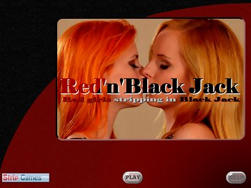 swf, model, real human, black jack, card game, striptease, redhead, erotic, lesbian