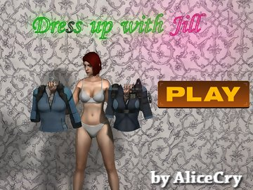swf, dress, jill, game, customize, valentine, resident, evil, accessories, unique, clothes, available, besides, complete, challenges, money, shopping, extras, strip, corpses, backgrounds, more:, walkthrough, assist