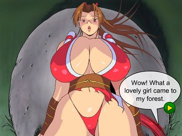 swf, titfuck, rape, pussy, paizuri, milk, mai shiranui, king of fighters, hentai, cumshot, breast expansion, big boobs, big ass