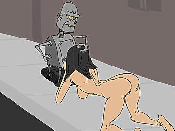 swf, robo, love, robot, provides, woman, oil-cumshot, face