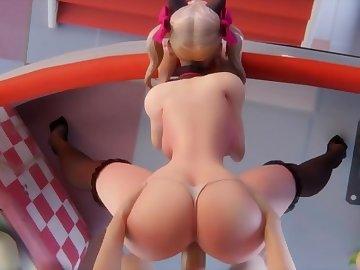 Overwatch Porn, overwatch, dva, point of view, teenager, big boobs, butt, teen, pov, hd porn, cartoon, blonde, big tits, big ass, 60fps, overwatch