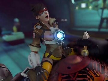 Overwatch Porn, bulge, belly bulge, cum, inflation, rule34, big cock, stomach bulge, all the way through, cum inflation, rule 34, roadhog, tracer, overwatch, ass fuck, teen, hardcore, hd porn, cartoon, brunette, blowjob, big dick, big ass, overwatch
