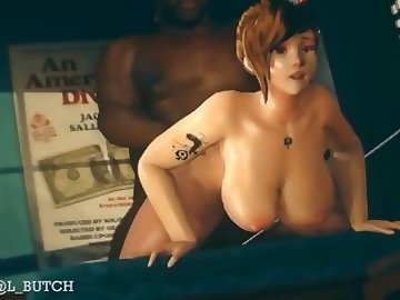 Overwatch Porn, doggy, overwatch, mei, old/young, cartoon, sex, creampie, brunette, asian, overwatch