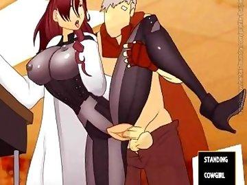 Persona 5 Hentai, anime, cartoon, hentai, cowgirl, tits, creampie, standing, fuck, missionary