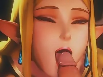 Legend of Zelda Hentai, interracial, dick, blowjob, 3d, zelda, girl, gamer, cartoon