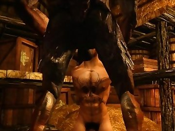 Skyrim Porn, cock, skyrim, 3d, animation, animated, gargoyle, monster, sex, mpreg, inflation, cum, birth, pregnant, fetish, dick, gay, cartoon