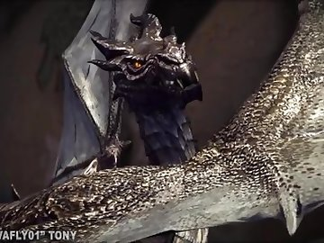 Skyrim Porn, anime, dragon, skyrim, 3d, cavafly01, pussy, ass, cartoon