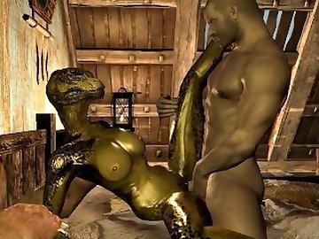 Skyrim Porn, argonian, skyrim, 3d, 2016, videogame, cartoon