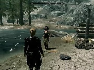 Skyrim Porn, lesbians, teens, blond, girl, blondes, pussy, licking, teenager, tight, outdoor, public, blonde, milf, video, game, lesbian, cartoon
