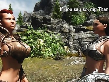 Skyrim Porn, cock, boobs, butt, futanari, futa, dickgirl, skyrim, animated, 3d, rule34, abs, sfx, sound, effects, dick, tits, shemale, cartoon