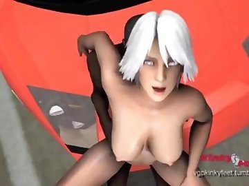 Dead or Alive Hentai, cartoon, interracial, dick, tits, filmmaker, source, christie, alive, dead, cock, outside, public, anime