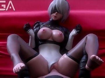 Nier: Automata Hentai, rule 34, jiggling tits, blender, point of view, 2b x 9s, 9s, 2b, nier automata, sound, loop, animation, exga, romantic, pov, hd porn, cartoon, big tits, big dick, big ass, babe