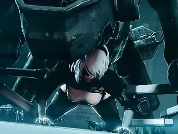 Nier: Automata Hentai, studiofow, nier, nier automata, anime, model 2b, hd porn, cartoon