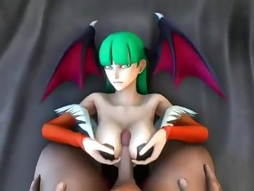 Darkstalkers Hentai, old/young, cartoon, double penetration, rough sex, threesome, big tits, babe, anime, boobs, 3some, dp