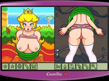 swf, creambee, erotic, nsfw, princesspeach